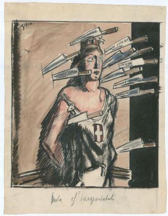 Mario Sironi, Tristo gioco, 1925