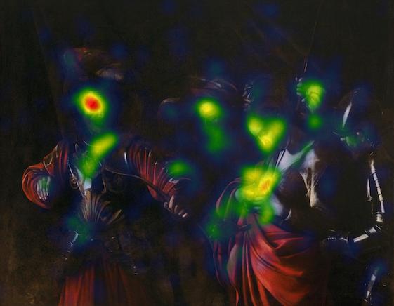 Attention Heatmap del Martirio di Sant'Orsola di Caravaggio