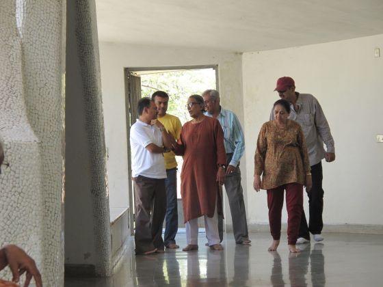 Matre Mandir Matar, realizzato da Doshi per il ramo Ompuri della Sri Aurobindo Society, marzo 2011