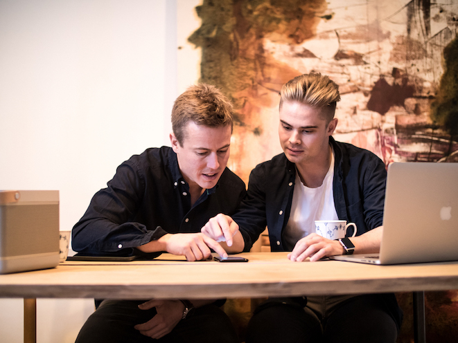 Mattis Curth and Jeppe Curth, Co-founders of Artland. Photo Mikkel Hjort Pedersen