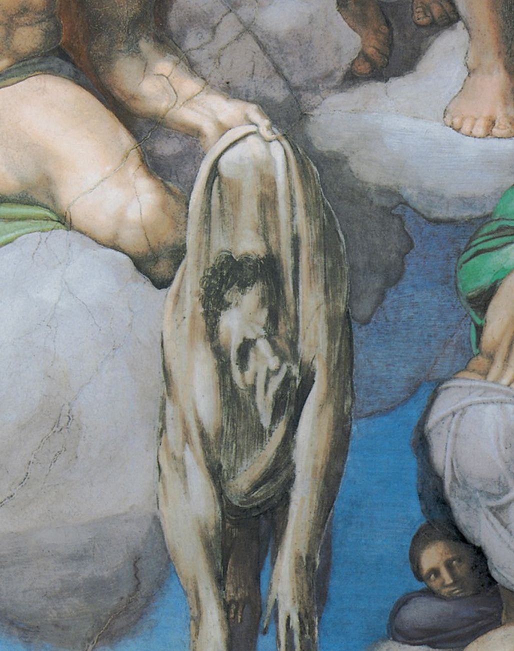 Michelangelo, Giudizio Universale, 1536-41, San Bartolomeo con autoritratto, dettaglio