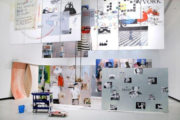 Miltos Manetas. Internet Painting. Exhibition view at MAXXI, Roma 2018
