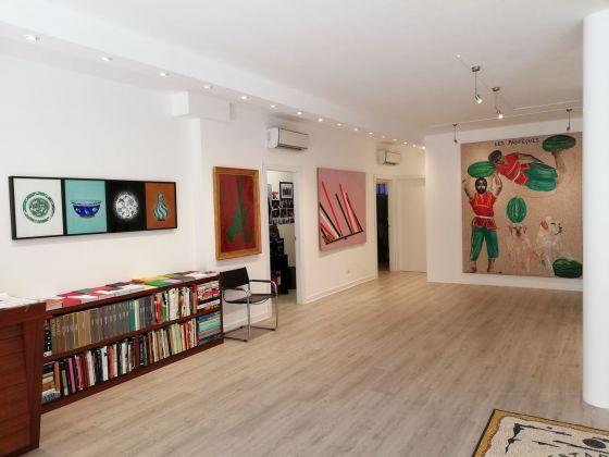 Omaggio ad Aldo Mondino. Exhibition view at Galleria Santo Ficara, Firenze 2018. Photo Alessandra Frosini
