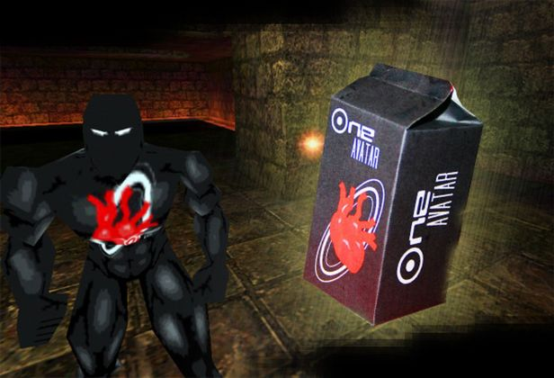 OneAvatar. The Game and the packaging. Art is Open Source, 2008