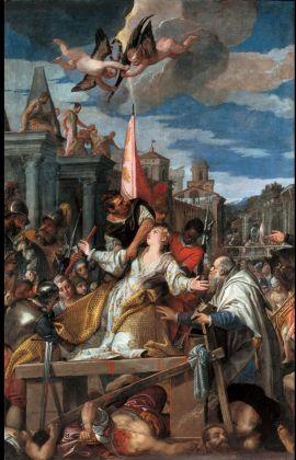 Paolo Veronese e bottega, Martirio di Sant'Afra, c. 1580, Brescia, Chiesa di Sant'Afra in Sant'Eufemia, olio su tela
