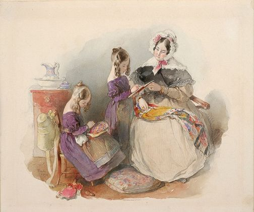 Peter Fendi, Le principesse Elise e Fanny Liechtenstein, 1838. Albertina Museum, Vienna