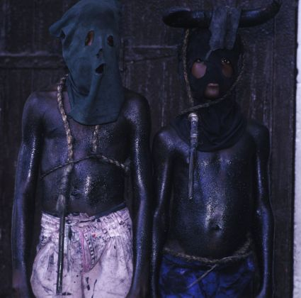 Phyllis Galembo, Two Boys with Whips, 2004, Courtesy Sindika Dokolo Foundation, Bruxelles