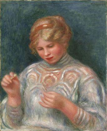 Pierre-Auguste Renoir, Ragazza che fa il merletto, 1906 ca. Philadelphia Museum of Art, Collezione Louis E. Stern, 1963