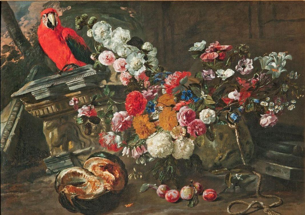 Pieter Boel, Natura morta con vaso di fiori con frutta Pieve Ligure (Ge), collezione privata