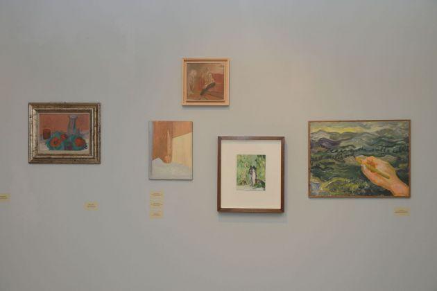 Pittura italiana... e altre storie minori. Installation view con le opere di Angelo Mosca, Musei di Villa Torlonia, Casino dei Principi, Roma 2015