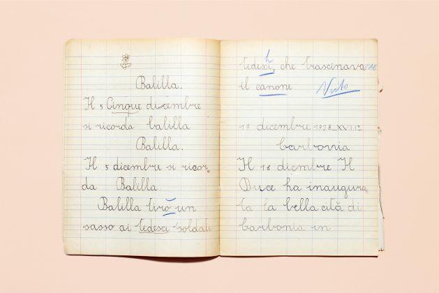 Quadernino di scuola elementare, epoca fascista