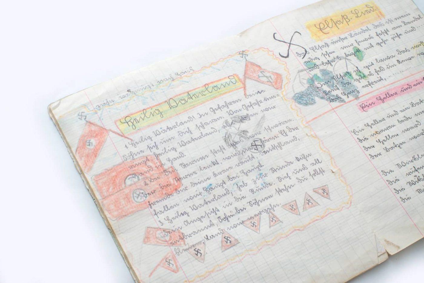 Quaderno delle canzoni di una bambina alsaziana del 1941