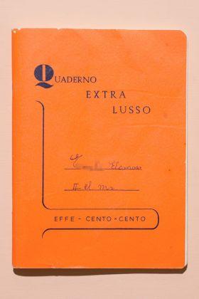 Quaderno extra lusso di una bambina di seconda elementare di Genova, 1970