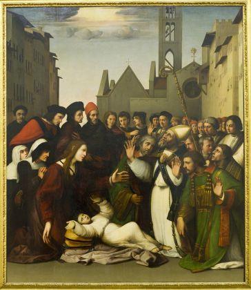 Ridolfo del Ghirlandaio, San Zanobi resuscita un fanciullo
