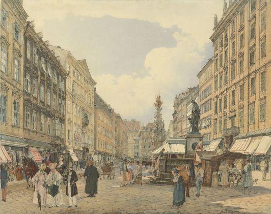 Rudolf von Alt, Graben, Vienna, 1838. Collezione privata
