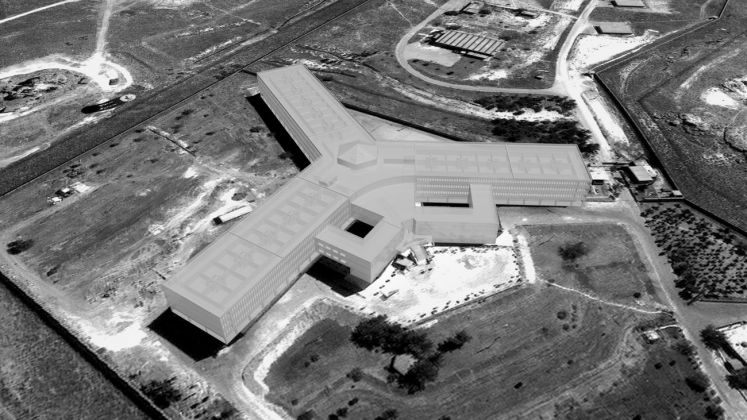 Saydnaya prison, as reconstructed by Forensic Architecture using architectural and acoustic modelling. Image Forensic Architecture, 2016
