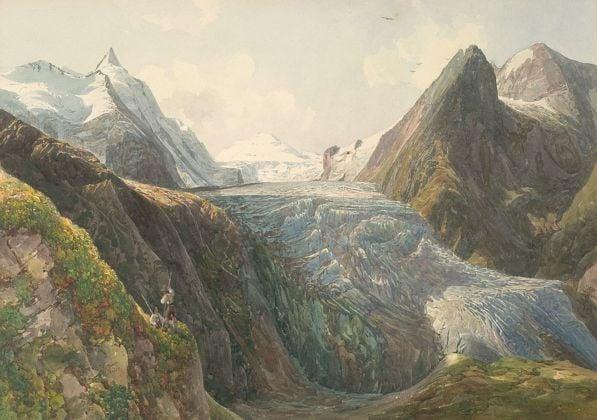 Thomas Ender, Il Gran Campanaro e il Ghiacciaio Pasterze, 1832. Collezione privata