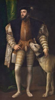 Tiziano, Carlo V con cane, 1533. Hampton Court, Royal Collection