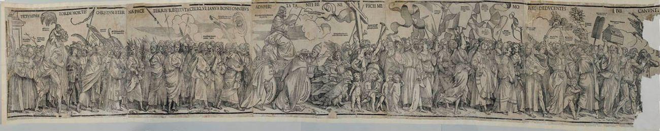 Tiziano Vecellio, Trionfo di Cristo, 1517, Brescia, Civici Musei d'Arte e Storia, xilografia