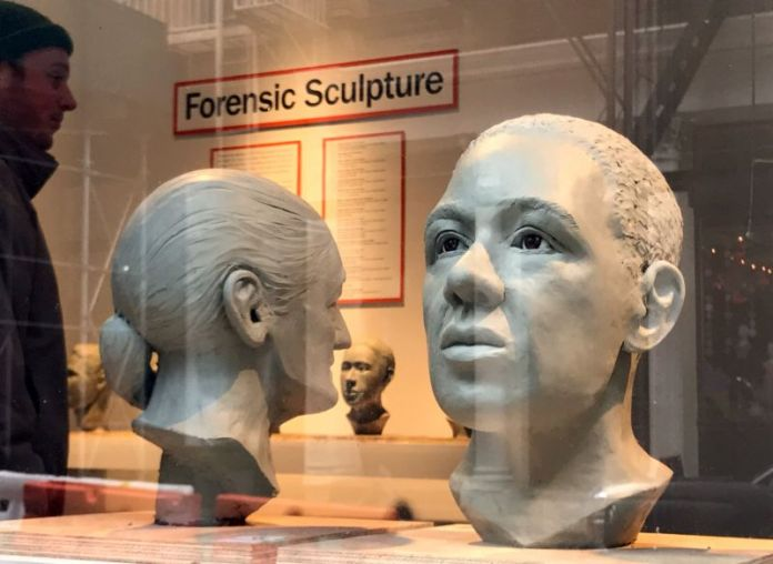 Busts on display as part of an exhibition