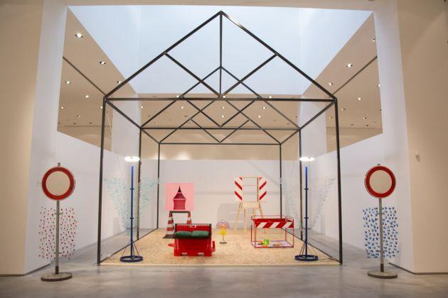 Ugo La Pietra. Exhibition view at CIAC, Foligno 2018. Photo Emanuele Gurini