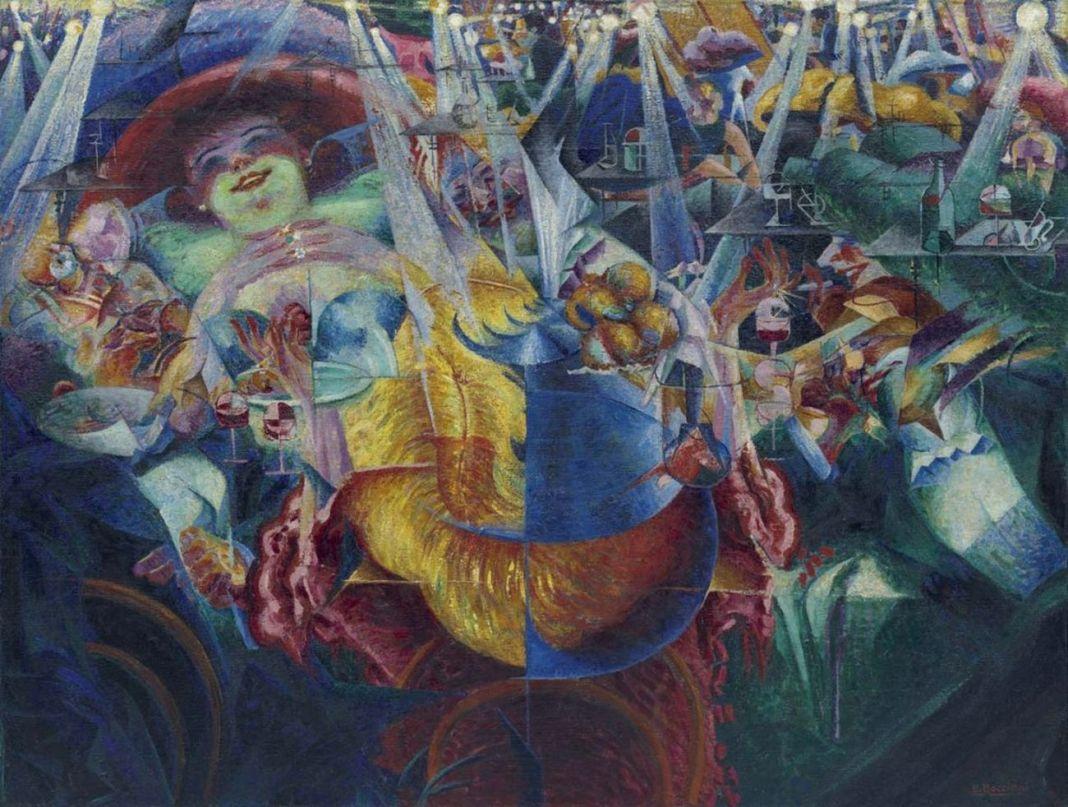 Umberto Boccioni, La risata, 1911. New York, Museum of Modern Art. Donazione Rothschild, 1959
