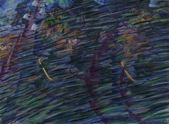 Umberto Boccioni, Stati d'animo. Quelli che vanno, 1911. Milano, Museo del Novecento © Comune di Milano