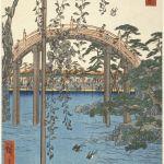 Utagawa Hiroshige, Kameido. L'area antistante il santuario Tenjin, 1856, dalla serie Cento vedute di luoghi celebri di Edo. Museum of Fine Arts, Boston