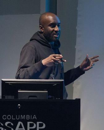 Virgil Abloh alla Columbia University nel 2017