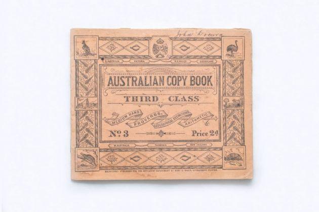 Il quaderno di scuola di un bambino australiano dello stato di Victoria, primi anni del '900