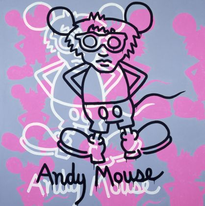 Keith Haring, Andy Mouse, 1985. Acrylic on canvas. Private collection © The Keith Haring Foundation