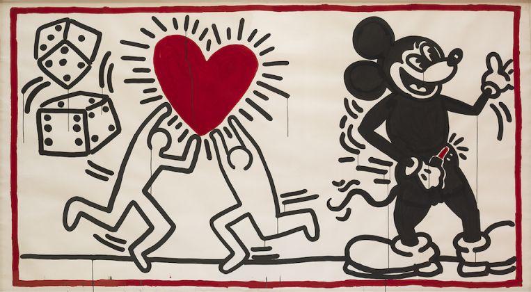 Keith Haring, Untitled, 1982 Vinyl paint on vinyl tarp © Keith Haring Foundation