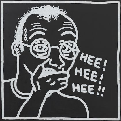 Keith Haring, Untitled (Self-Portrait), 1985. Acrylic on canvas. Udo and Annette Brandhorst Collection, Munich © The Keith Haring Foundation