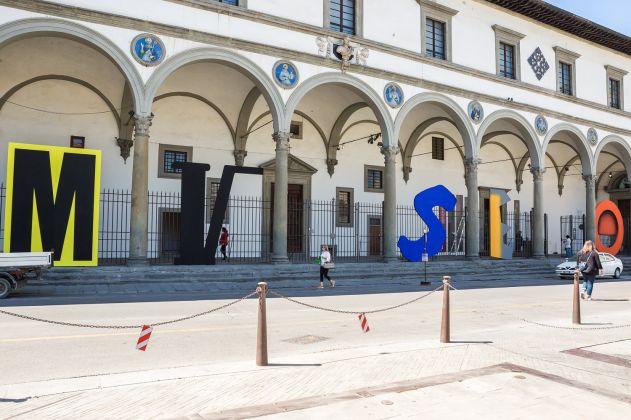 Cortile del Museo Novecento, Firenze 2018. Installazione di Paolo Parisi