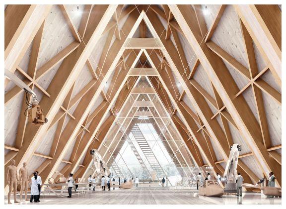 Biennale di Architettura di Venezia 2018. Padiglione Italia. Atmosfera: lo spazio di lavoro – Paris Render, Luca Stortoni, Paolo Sinibaldi