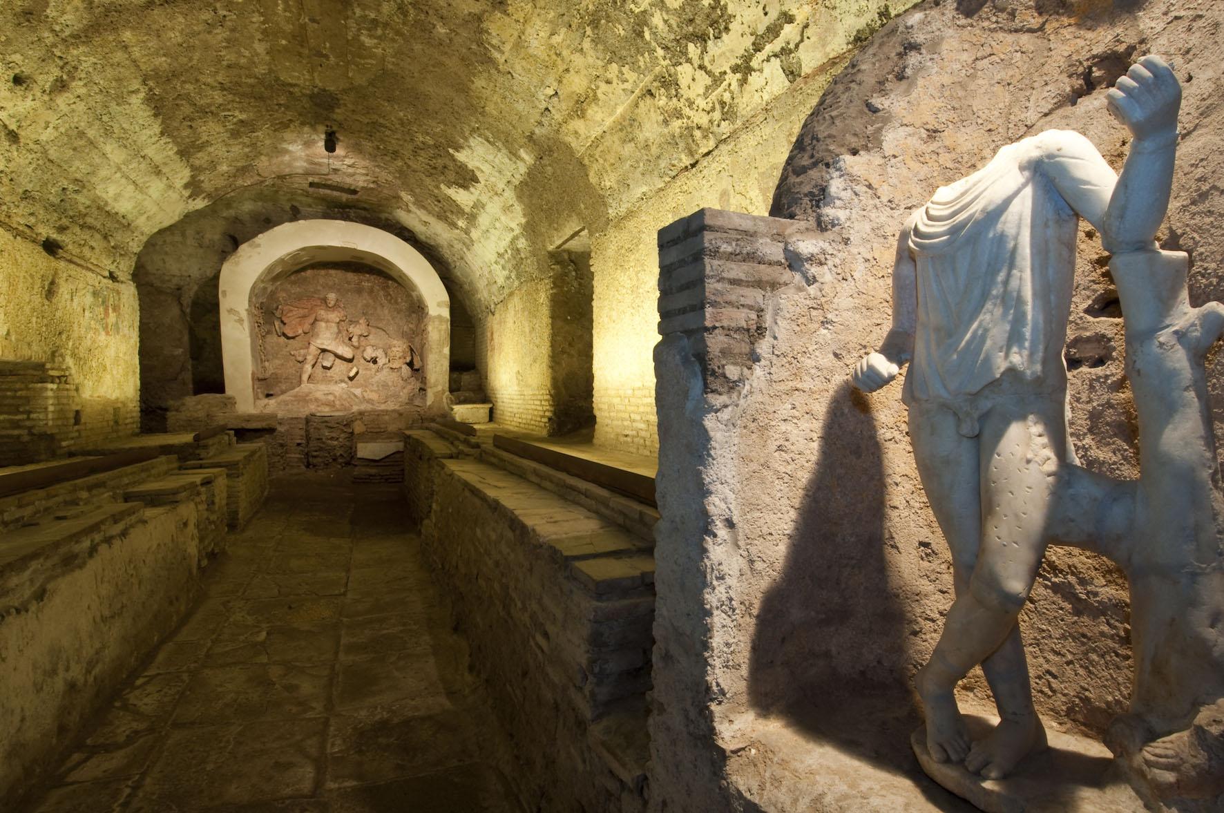 Mitreo di S.Prisca, Archivio Sopr. Romano D'Agostino. Open House Roma