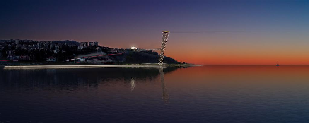 Capo Grande Tower, Render ©Archivio Fuksas