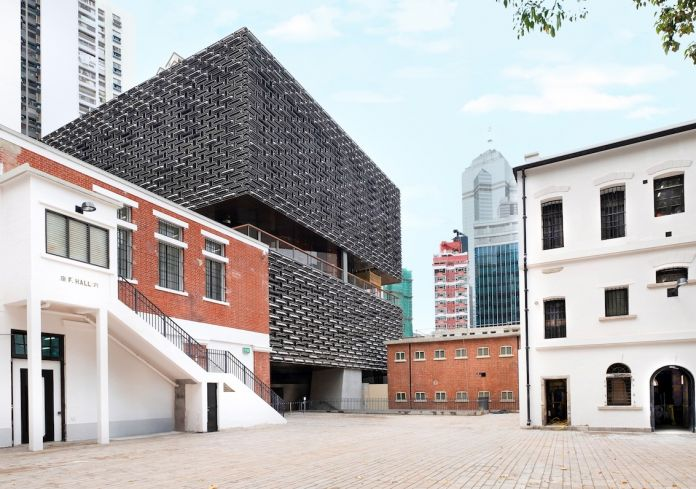 Comprising three declared monuments, the former Central Police Station, Central Magistracy and Victoria Prison, the CPS compound has a total of 16 historic buildings and outdoor spaces, with a new art gallery building and an auditorium building added to it. Please credit to Tai Kwun