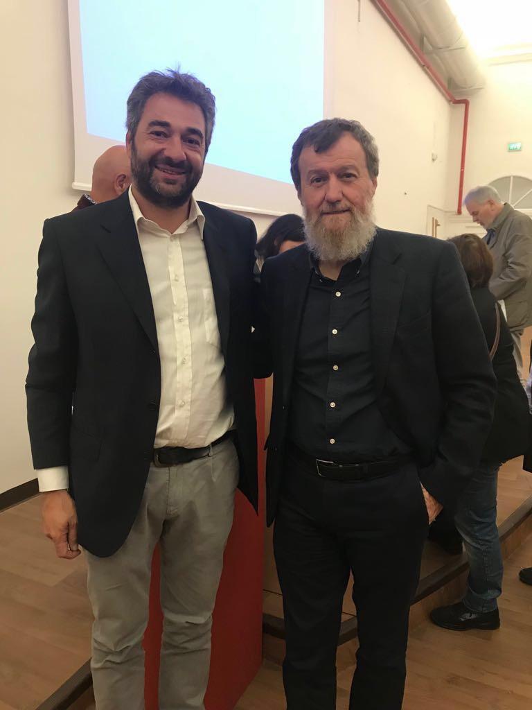 Alberto Dambruoso con Danilo Eccher