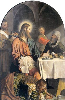 Alessandro Bonvicino detto il Moretto, Cena in casa di Simone Fariseo, 1550 ca. Brescia, Santa Maria in Calchera
