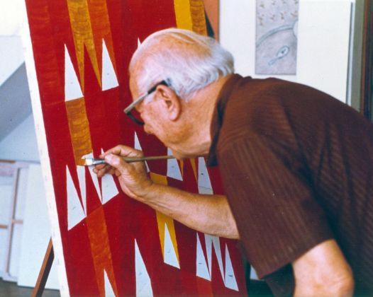 Alfredo Volpi, anni '60. Courtesy Instituto Alfredo Volpi de Arte Moderna