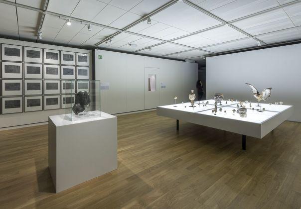 Anche la statue muoiono. Exhibition view at Museo Egizio, Torino 2018