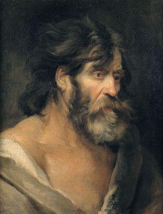 Antoon van Dyck, Studio di testa per Santo
