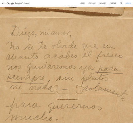 Frida Kahlo letter to Diego Rivera