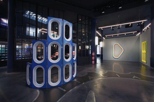 Blair Thurman. Nell'acqua azzurra. Exhibition view at Garage Italia, Milano 2018. Photo ©Tullio M. Puglia Getty Images for Garage Italia
