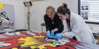 Conserving Whaam! di Roy Lichtenstein