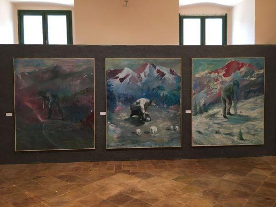 Danilo Buccella, exhibition view at De prospectiva pingendi, Todi 2018, photo Valentina Grandini