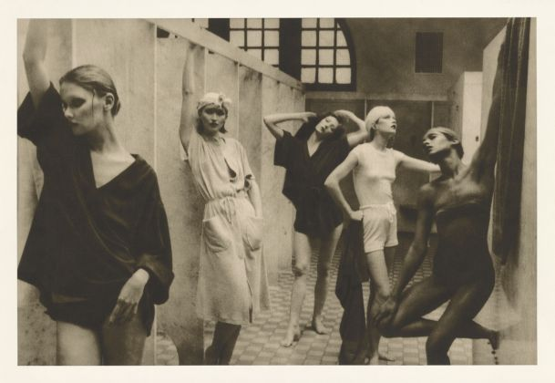 Deborah Turbeville, Bath House, negative 1975_ print about 1980, Copyright © Deborah Turbeville Foundation, Object Credit The J. Paul Getty Museum, Los Angeles, Gift of Estate of Deborah Turbeville