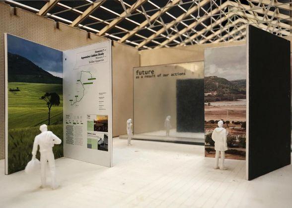 Dettaglio modello, Sala degli itinerari – Staff Mario Cucinella