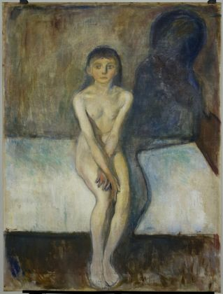 Edvard Munch, Puberty, 1894, oil on undressed canvas, 149 x 112 cm. © The Munch Museum